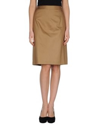 Iceberg Knee Length Skirts Khaki