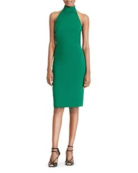 Ralph Lauren Turtleneck Halter Dress Regent Green