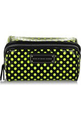 Marc By Marc Jacobs Polka Dot Pvc And Mesh Cosmetics Case Black