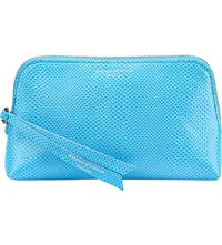 Aspinal Of London Essential Leather Cosmetic Case Aquamarine