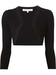Carolina Herrera Fine Knit Bolero Black