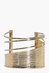 Boohoo Abstract Cut Out Cuff Gold