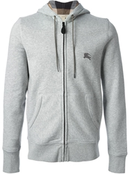 Burberry Brit Zipped Hoodie Grey