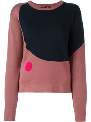 Paul Smith Ps By Bicolour Circle Design Jumper Pink And Purple