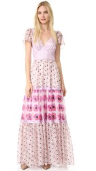 Temperley London Clarion Print Dress Powder