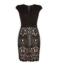 Ted Baker Emara Lace Skirt Wrap Dress Female Black