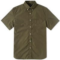 Beams Plus Short Sleeve Broadcloth Shirt Green
