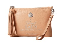 My Flat In London A Real Lady Small Tassel Pouch Nude Coin Purse Beige