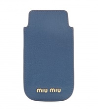 Leather Iphone 5 Case Blue
