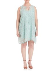 Johnny Was Plus Size Mod Eyelet Dress Sky Blue