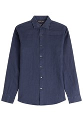 Michael Kors Collection Linen Shirt Blue
