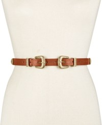 Inc International Concepts Double Buckle Western Belt Only At Macy's Cognac