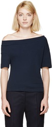 Jacquemus Navy Off The Shoulder T Shirt