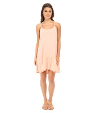 Michael Stars Modern Rayon Spaghetti Strap Cross Back Dress Coral Blush Women's Dress Pink