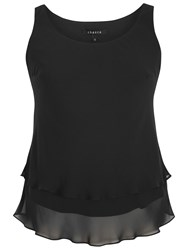 Chesca Double Layer Cami Black