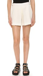 Alexander Wang Tailored Shorts With Front Pleat Bone