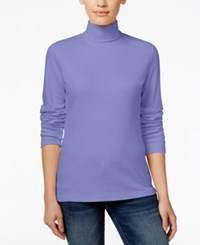 Karen Scott Long Sleeve Turtleneck Only At Macy's Purple Bliss