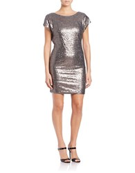 Vera Wang Sequin Dress Pewter