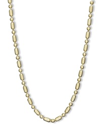 Macy's 14K Gold Necklace 24' Dot Dash Chain