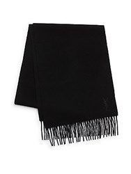 Yves Saint Laurent Wool And Cashmere Scarf Black