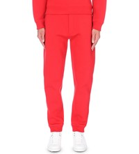 Kenzo Patch Applique Tapered Neoprene Jogging Bottoms Paprika