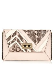 Diane Von Furstenberg 440 Gallery Secret Agent Zip On Clutch Light Pink