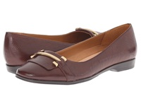 Naturalizer Joyce Bridal Brown Leather Women's Flat Shoes
