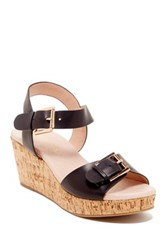 Restricted Break Up Wedge Sandal Black