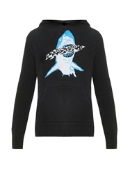 Baja East Shark Hooded Cashmere Sweater