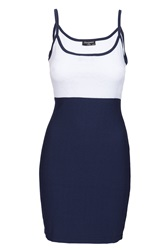 Indulgence Strap Dress Navy