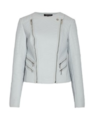 Morgan Biker Style Jacket With Zipped Detail Blue