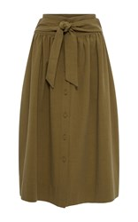 Sea Tied Midi Skirt Khaki