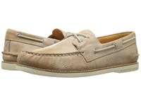 Sperry Gold A O 2 Eye Cross Lace Brown Men's Moccasin Shoes