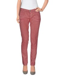 Byblos Denim Denim Trousers Women Pastel Pink