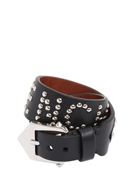 Givenchy Studded Leather Wrap Bracelet Black Brown