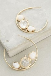 Anthropologie Evening Droplet Hoops White