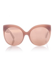 Linda Farrow Rounded Cat Eye Caged Sunglasses