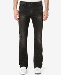 Buffalo David Bitton Men's King X Slim Fit Bootcut Destroyed Jeans Dirty And Worn