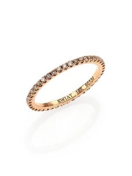 Kwiat Brown Diamond And 18K Rose Gold Eternity Stacking Ring