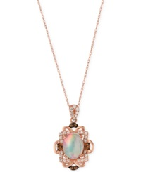 Le Vian Opal 1 1 5 Ct. T.W. And Diamond 1 3 Ct. T.W. Pendant Necklace In 14K Rose Gold