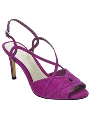 Phase Eight Ally Suede Strappy Sandals Purple