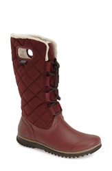 Bogs 'Juno' Waterproof Quilted Snow Boot Women Ox Blood