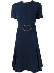 Stella Mccartney Keyhole Detail Cady Dress Blue