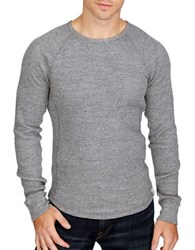 Lucky Brand Lived In Thermal Crew Tee Heather Grey