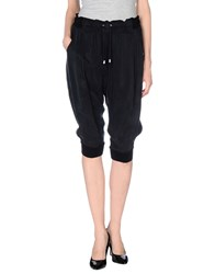 Armani Jeans Trousers 3 4 Length Trousers Women Black