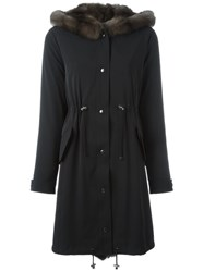 Liska Drawstring Coat Black