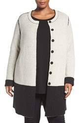 Nic Zoe Plus Size Women's 'Bold Block' Reversible Colorblock Knit Jacket