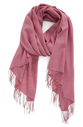 Nordstrom Women's Tissue Weight Wool And Cashmere Scarf Purple Mesa