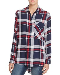 Aqua Jordan Plaid Button Down Shirt Navy Red