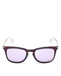 Ray Ban Rubber Iridescent Wayfarer Sunglasses 50Mm Purple Purple Mirror